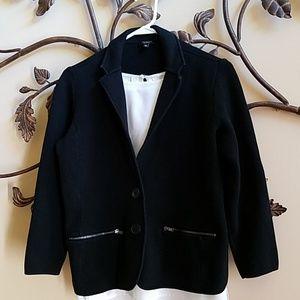 TALBOTS Sweater Blazer Super Sharp 2-Button